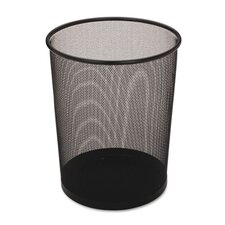 Steel Mesh Wastebasket in Black