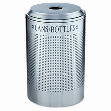 Silhouette Can/Bottle Round 26 Gallon Industrial Recycling Bin