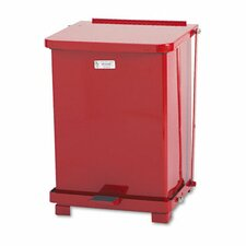 <strong>Rubbermaid Commercial Products</strong> Defenders Square Biohazard Step Can, 7 Gal