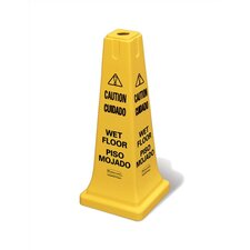 "Safety Cone with Multi-Lingual ""Caution, Wet Floor"" Logo"