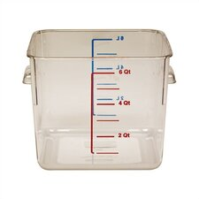 Polycarbonate Square Storage Container (6 U.S. qt.)
