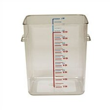 Polycarbonate Square Storage Container (12 U.S. qt.)