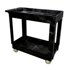 "<strong>Rubbermaid Commercial Products</strong> 2 Shelf Food Service & Utility Cart with 4"" Casters"