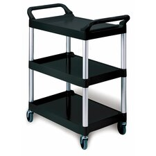 3-Shelf Service Cart in Red