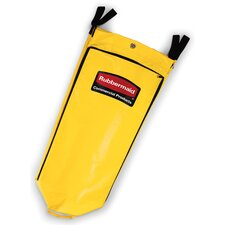 26-Gallon Vinyl Cleaning Cart Bag in Yellow