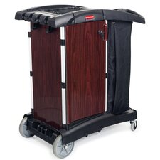 Deluxe Paneled Compact Housekeeping Cart in Black
