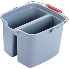 Brute 17-Quart Double Utility Pail in Gray