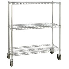 "48.3"" H 3 Shelf Shelving Unit Mobile"