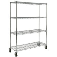 "67.2"" H 4 Shelf Shelving Unit Mobile"