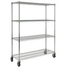 """67.2"""" H 4 Shelf Shelving Unit Mobile"""