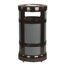 Architek 17 Gallon Radius Ash Urn Trash Receptacle (Set of 2)