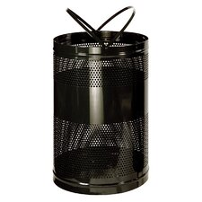 Howard Towne 63 Gal. Perforated Steel Free Standing Receptacle