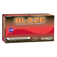 "High Five Blaze 10.5"" Nitrile Exam Gloves 200 Count Case"