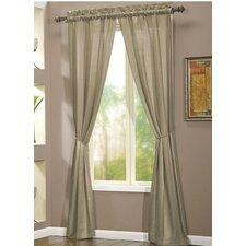 Berkshire Rod Pocket Curtain Single Panel (Set of 2)
