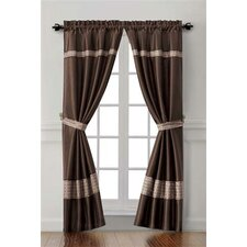 <strong>Victoria Classics</strong> Soriano Rod Pocket Curtain Single Panel (Set of 2)