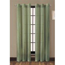 <strong>Victoria Classics</strong> Sierra-Crushed Grommet Curtain Single Panel