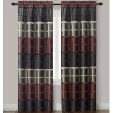 <strong>Victoria Classics</strong> Bombay Rod Pocket Curtain Single Panel (Set of 2)