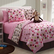 Monkey Reversible Comforter Set