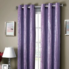 Jericho Crushed Synthetic Grommet Curtain Single Panel