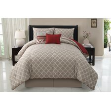 Delancy 5 Piece Reversible Comforter Set