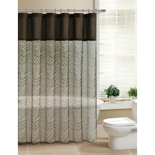 <strong>Victoria Classics</strong> Laken Fabric Pieced Shower Curtain