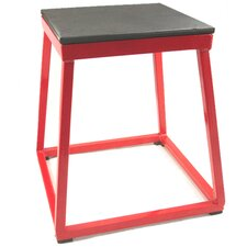 "18"" Steel Plyometric Box in Red"