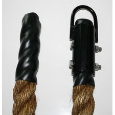 "Manila Rope with Plyometric End and Metal Clamp - 1.5"" Diameter"