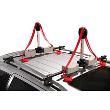 Stax Pro2 Universal Car Rack Folding Kayak Carrier (2 Boat Carrier) with Bow and Stern Lines