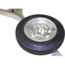 Galvanized Trailer Spare Tire with Locking Attachment for MicroSport Trailer