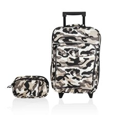 <strong>Obersee</strong> Kids Camo 2 Piece Suitcase and Toiletry Bag Set