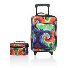 Kids Tie Dye 2 Piece Suitcase and Toiletry Bag Set