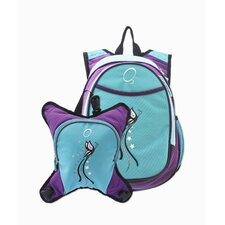 O3 Munich Butterfly School Backpack with Detachable Lunch Cooler
