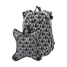 <strong>Obersee</strong> O3 Munich Skulls School Backpack with Detachable Lunch Cooler