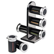 Zero Gravity 6 Canister Countertop Magnetic Spice Stand