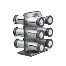 Zero Gravity Countertop Magnetic Spice Rack- 12 Canisters