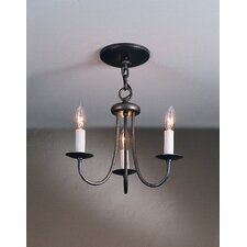 <strong>Hubbardton Forge</strong> Simple Sweep 3 Light Chandelier