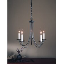 Simple Sweep 5 Light Chandelier