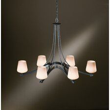 <strong>Hubbardton Forge</strong> Ribbon 6 Light Chandelier
