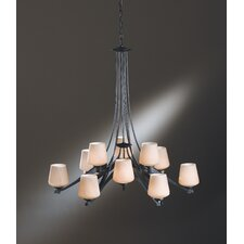 <strong>Hubbardton Forge</strong> Ribbon 12 Light Chandelier
