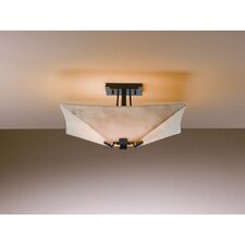 "<strong>Hubbardton Forge</strong> Vortis 7.3"" 4 Light Semi Flush Mount"