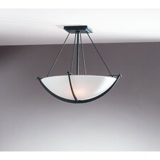 Compass Small 3 Light Semi Flush Mount