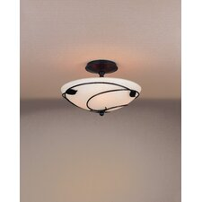 Leaf Medium 2 Light Semi Flush Mount