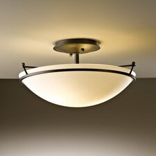 Small Plain 2 Light Semi Flush Mount