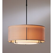 <strong>Hubbardton Forge</strong> Exos Double Shade 3 Light Drum Pendant