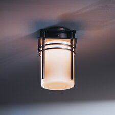 <strong>Hubbardton Forge</strong> Banded 1 Light Outdoor Semi Flush Mount