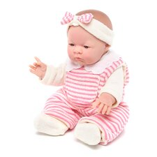 "<strong>JC Toys</strong> Lily - 14"" Real Girl Vinyl Doll with Pink Terry and Fleece Outfit"