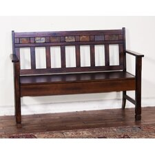 Santa Fe Wood Storage Bench