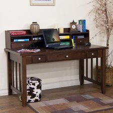 "Cappuccino 13"" H x 57"" W Desk Hutch"