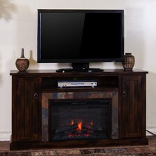 "Santa Fe 60"" TV Stand with Electric Fireplace"