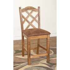 Sedona Double Crossback Barstool in Rustic Oak